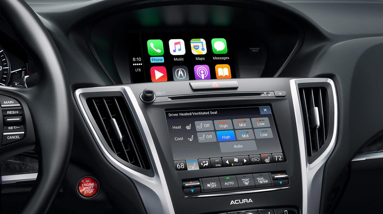 2019 Acura TLX Interior ODMD Apple CarPlay