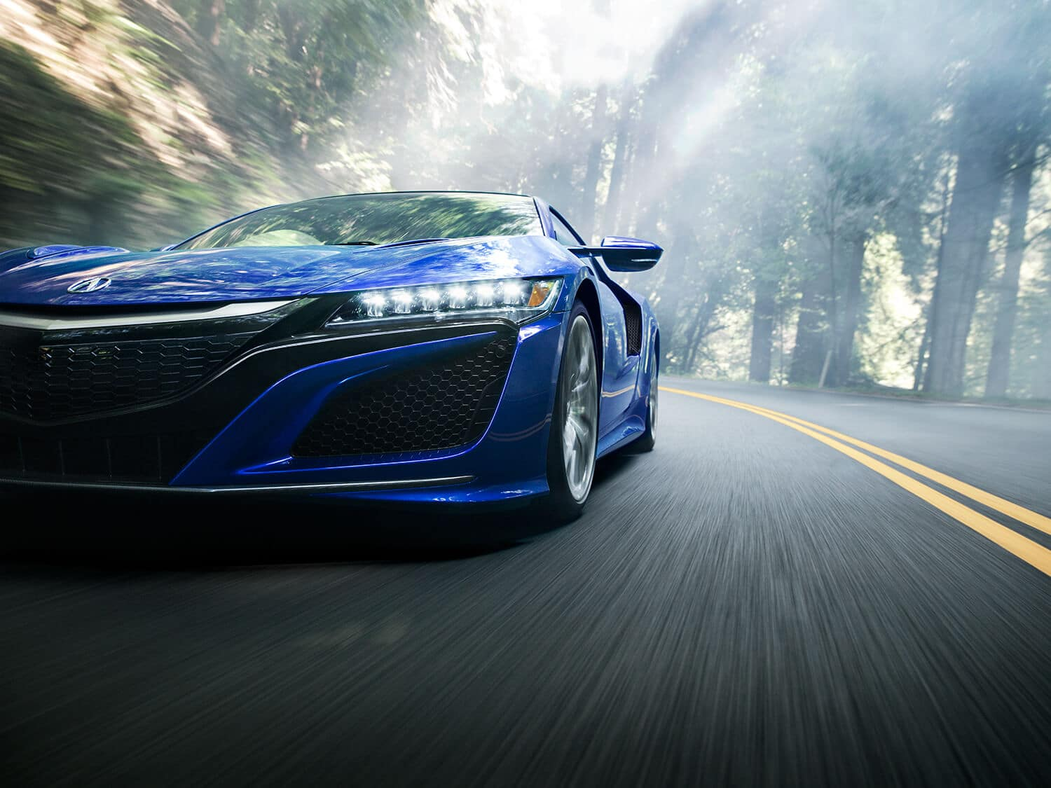 2018 Acura NSX Exterior Front Facing Blue