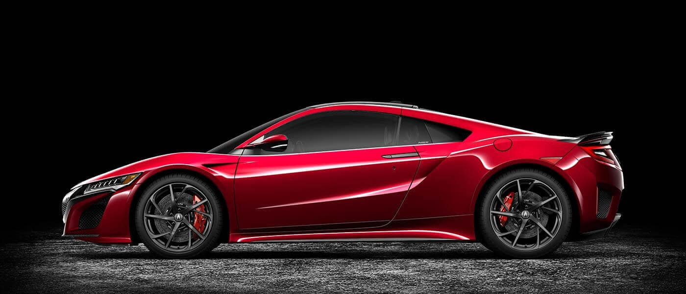 2018 Acura NSX Exterior Side Profile Studio Red