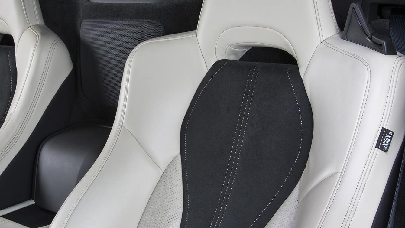2018 Acura NSX Interior Leather Seat Closeup