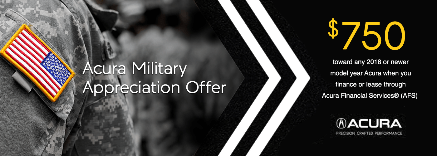 2018 Acura Military Appreciation Offer from Kentucky Acura Dealers