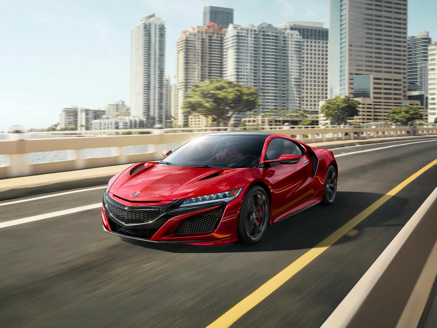 2019 Acura NSX Exterior Front Angle Driver Side City