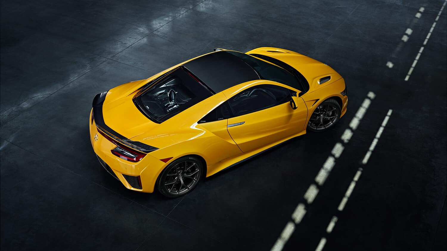 2020 Acura NSX Exterior Indy Yellow Pearl Overhead Angle