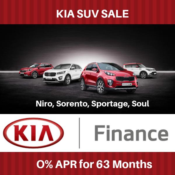 SUV Sale 0% APR