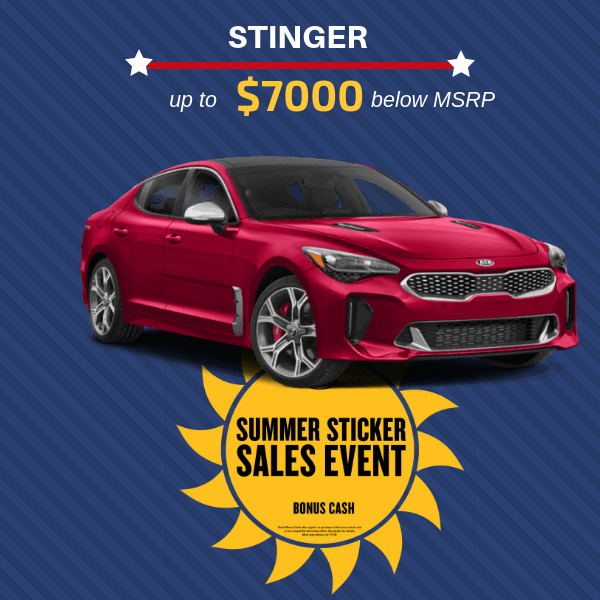 Save up to $7000 of MSRP on Stinger
