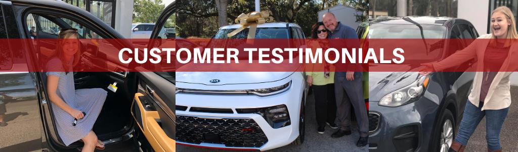 Customer Testimonial page header