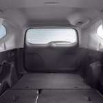 Honda CR-V cargo area with rear seats folded