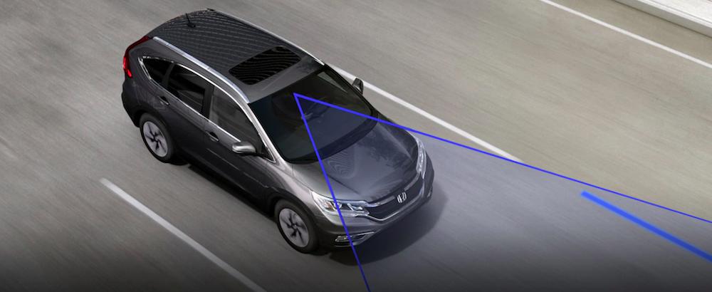 Honda CR-V using Lane Departure Warning
