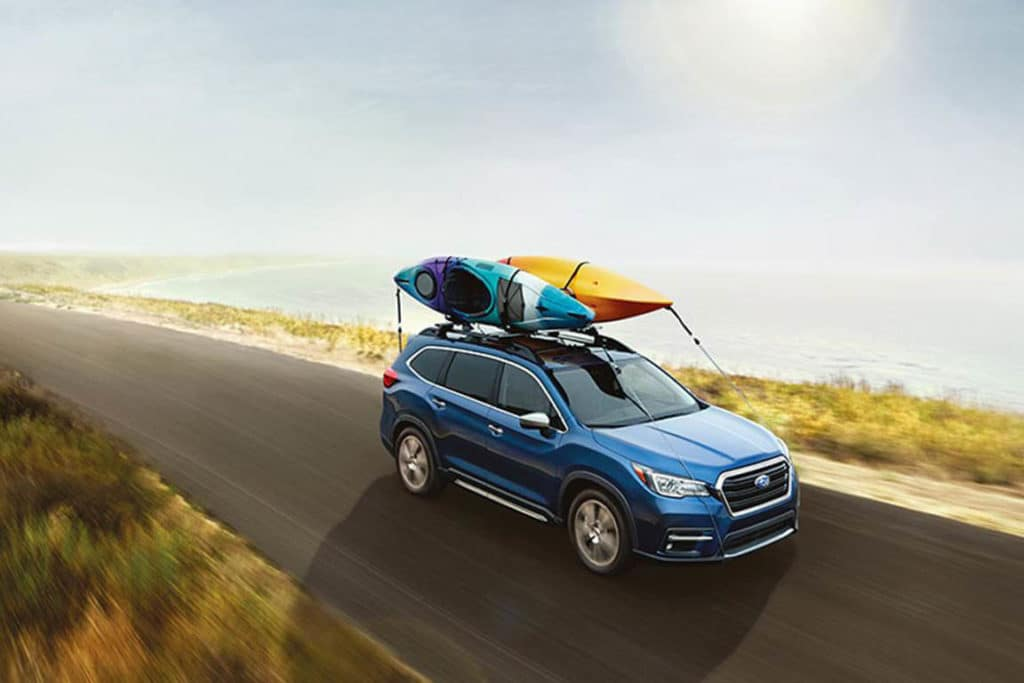 2019 Subaru Ascent with kayak on top