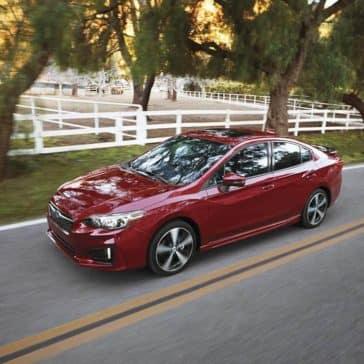 2019 Subaru Impreza on a parkway