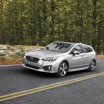 2019 Subaru Impreza on a forest drive