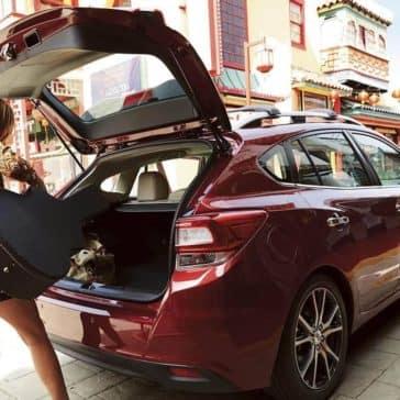 2019 Subaru Impreza loading guitar