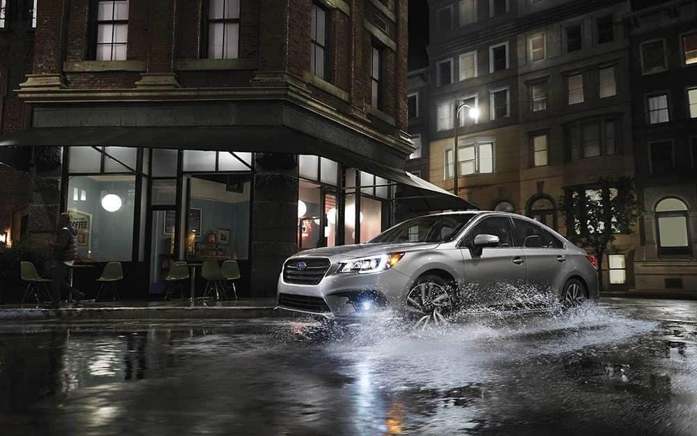 2019 Subaru Legacy in the driving rain