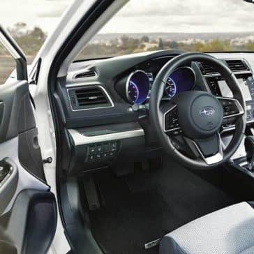 2019 Subaru Legacy open door view of dashboard