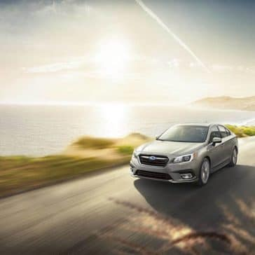 2019 Subaru Legacy seaside at dusk