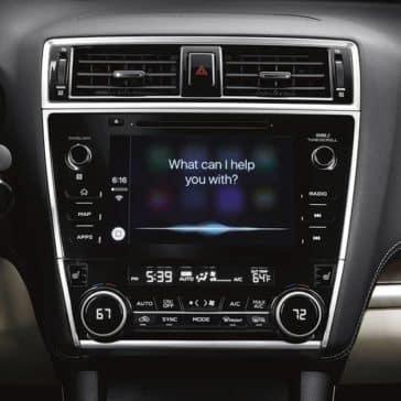 2019 Subaru Legacy technology screen