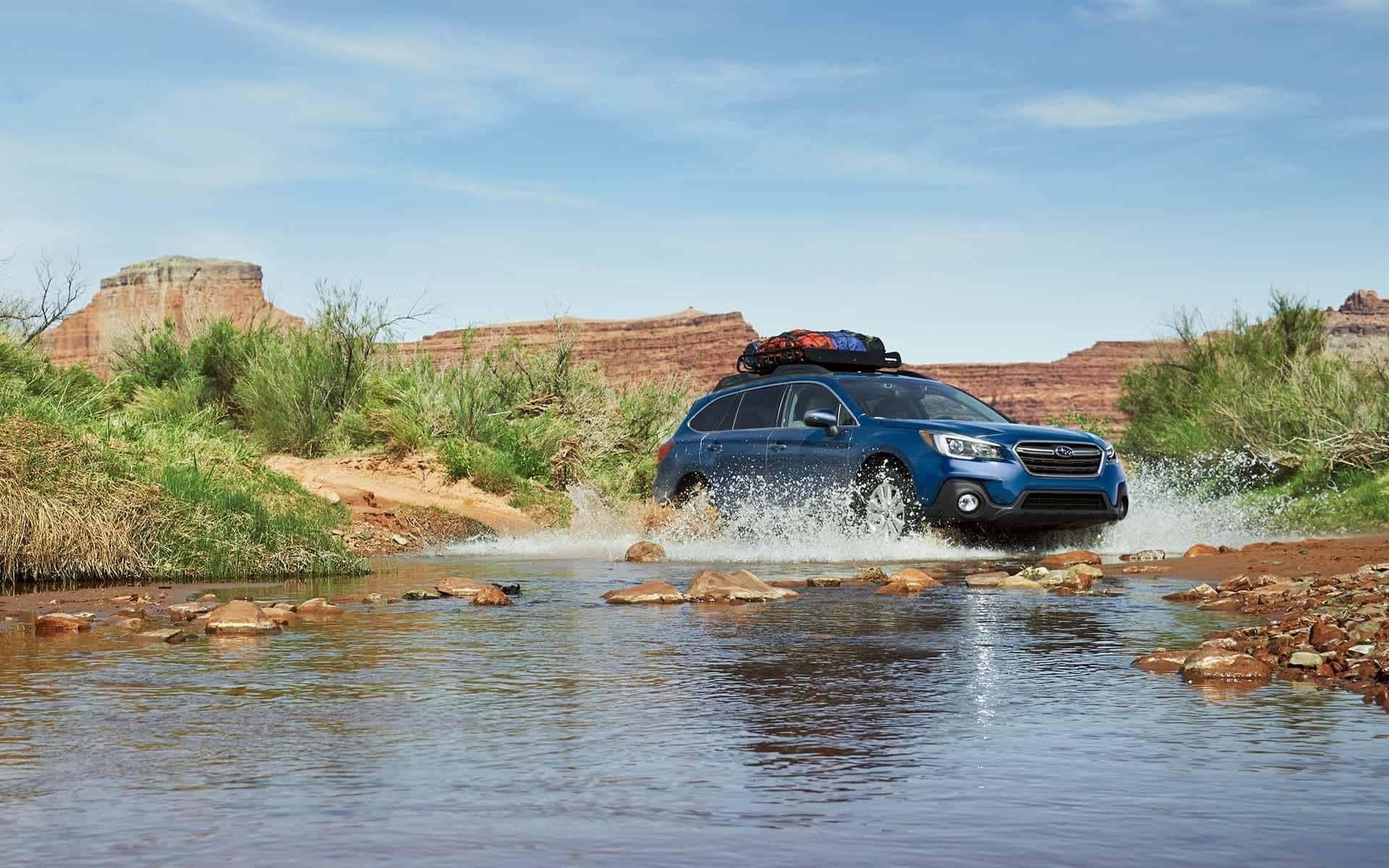 2019 Subaru Outback traversing river