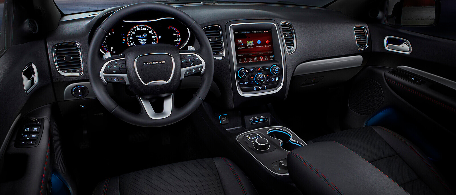 meet the spacious and powerful 2017 dodge durango knight dodge. Black Bedroom Furniture Sets. Home Design Ideas