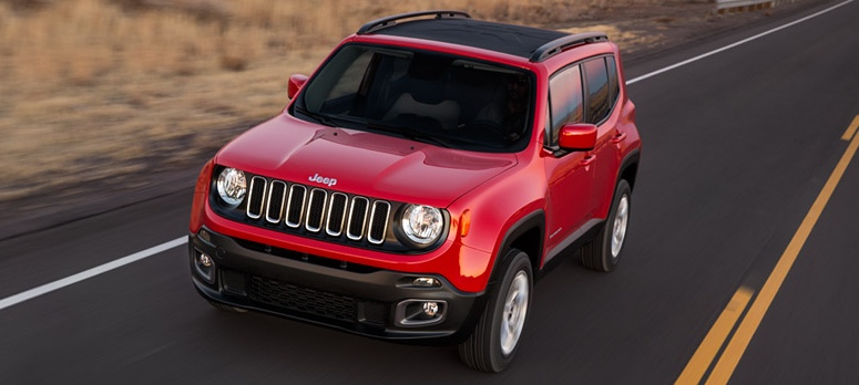 Red 2016 Jeep Renegade