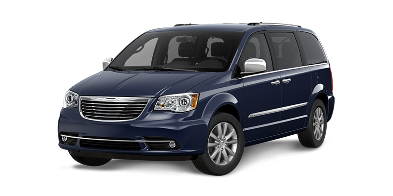 2016 Chrysler Town & Country blue exterior
