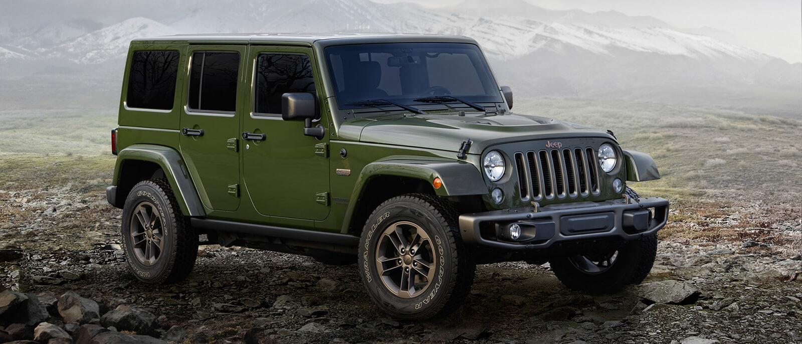 2016 Jeep Wrangler green