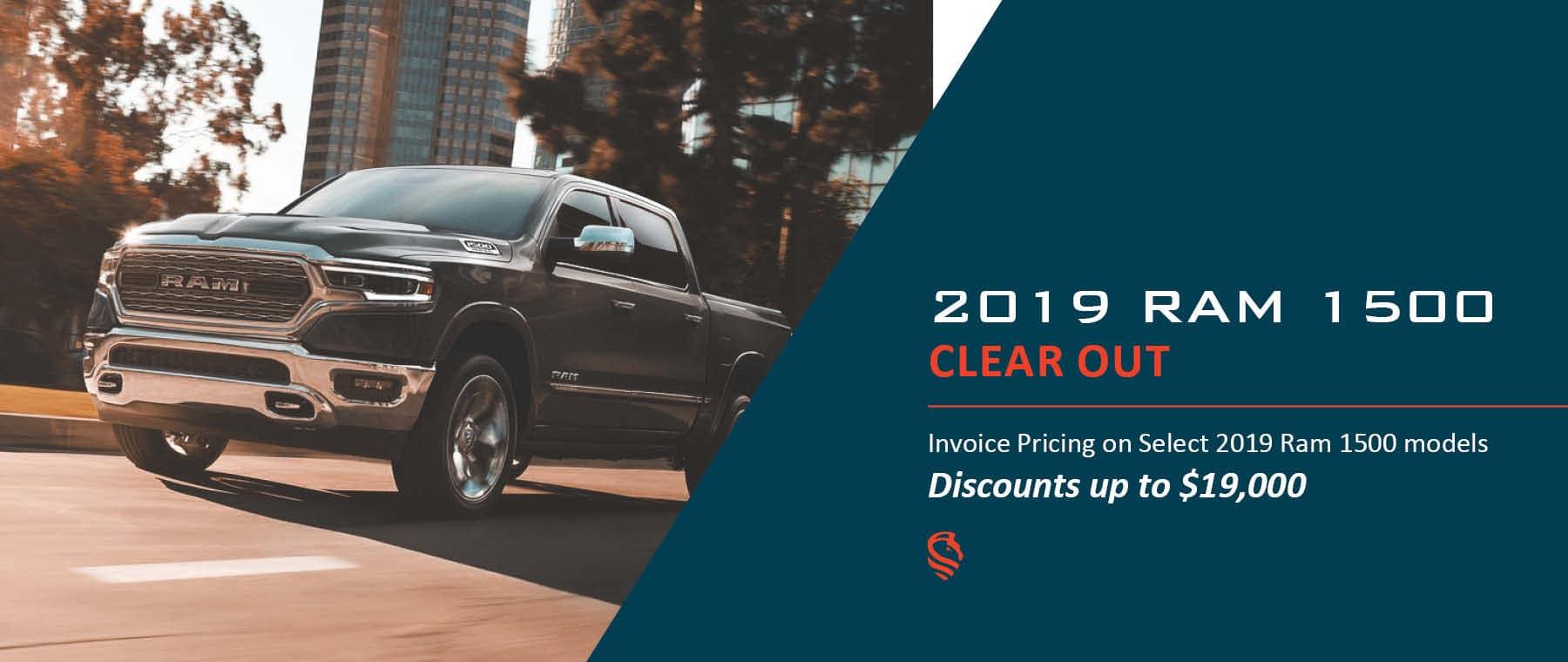 2019 Ram 1500 Invoice Sale