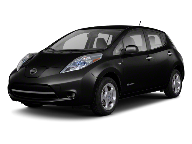 2012 Nissan LEAF black exterior