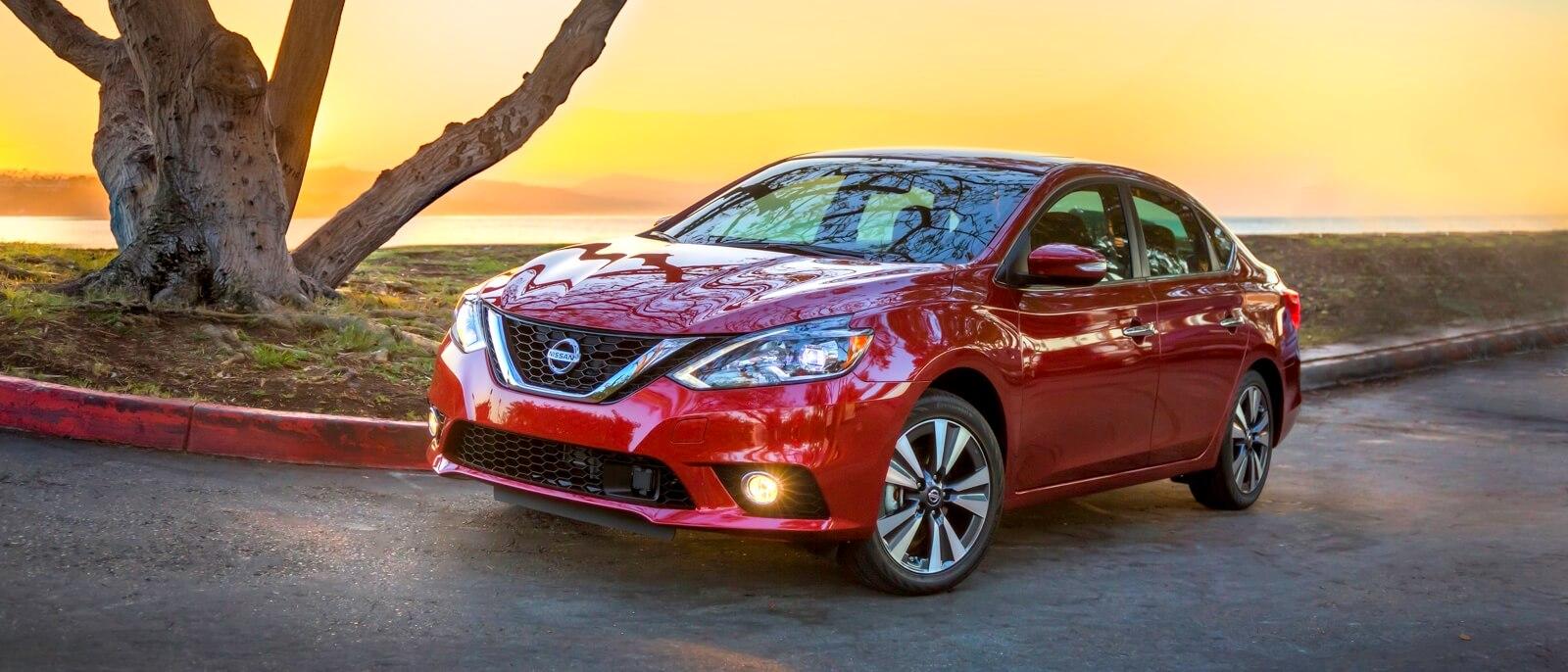 2016 Nissan Sentra red exterior