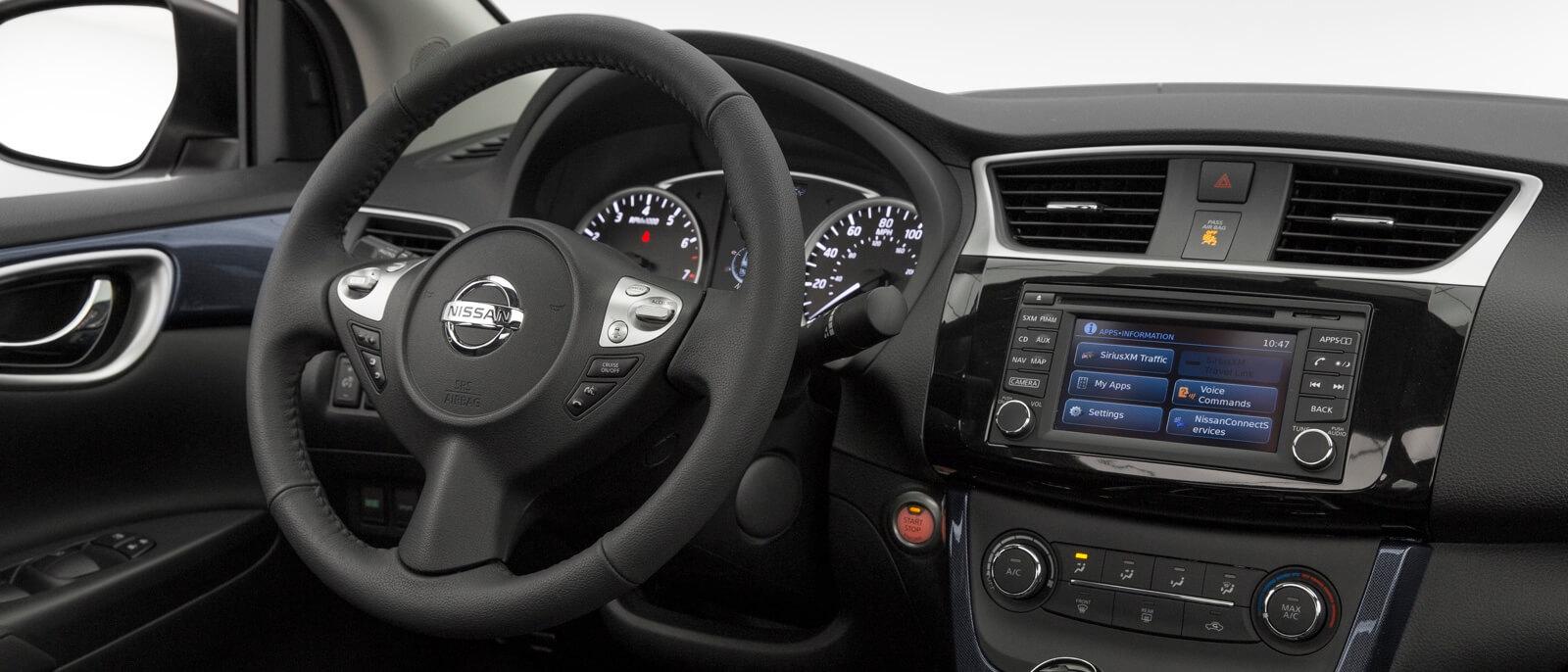 2016 Nissan Sentra front interior