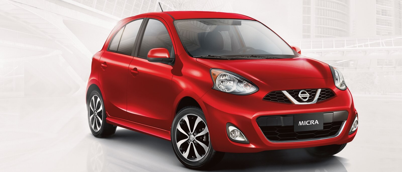 2016 Nissan Micra red exterior