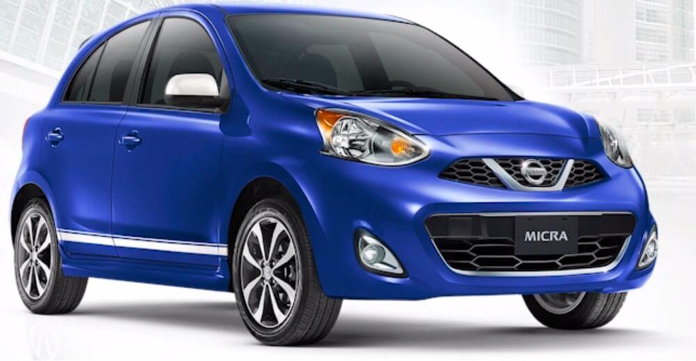 2016 Nissan Micra blue exterior