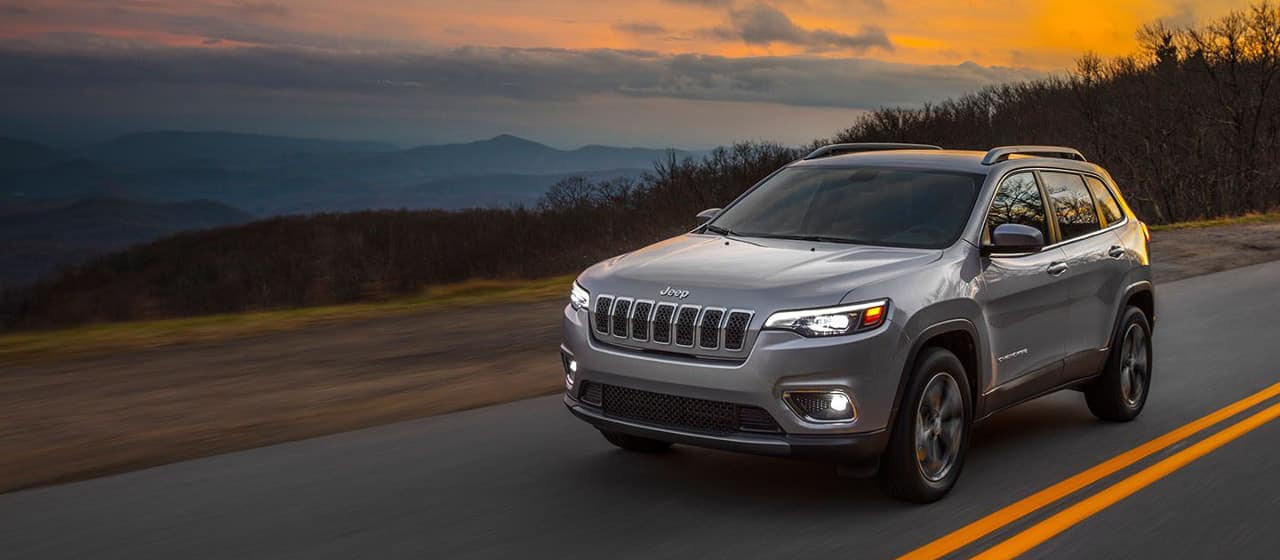 2019 Jeep Cherokee on road