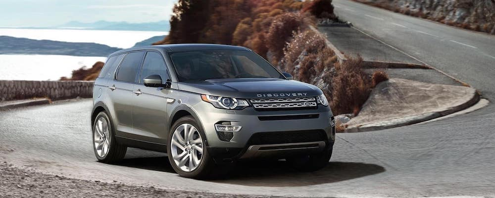 gray 2019 discovery sport on windy mountain road