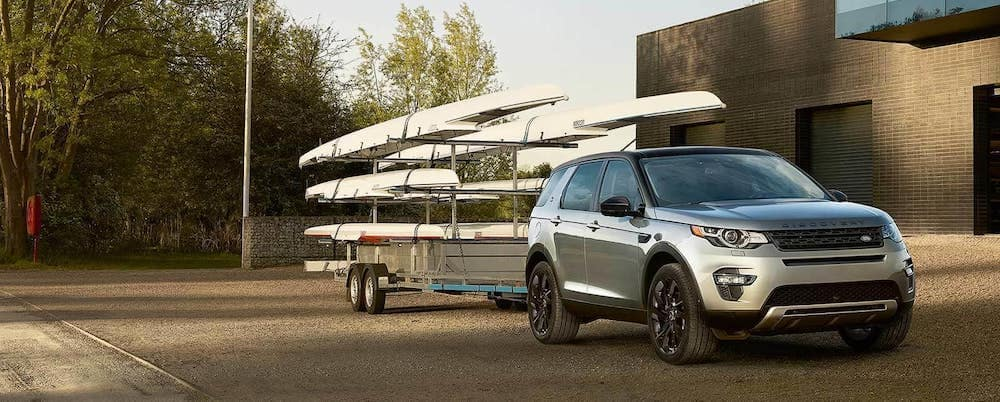 2019 Land Rover Discovery Sport towing row boats