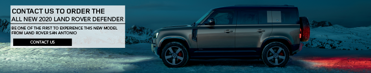 CONTACT US TO ORDER THE ALL NEW 2020 LAND ROVER DEFENDER. BE ONE OF THE FIRST TO EXPERIENCE THIS NEW MODEL FROM LAND ROVER SAN ANTONIO. CONTACT US. IMAGE FEATURING 2020 LAND ROVER DEFENDER 110 IN GREEN UNDER THE NIGHT SKY NEAR SNOW CAPPED MOUNTAINS.