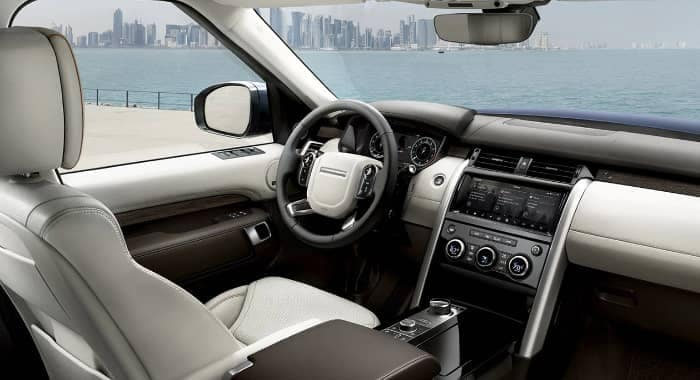 interior cabin of 2020 Land Rover Discovery