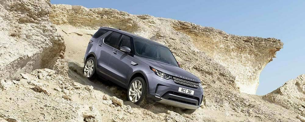 2020 Land Rover Discovery on a mountainside
