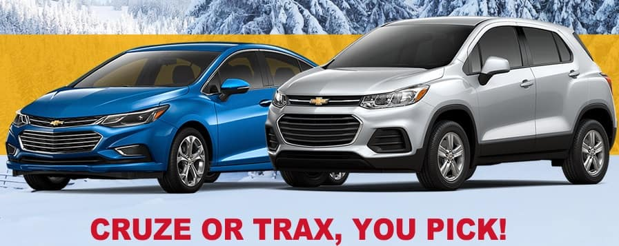 2018 Cruze or 2018 Trax - YOU PICK!