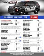2018 SUV Interceptor List