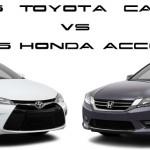 2015 Toyota Camry vs 2015 Honda Accord