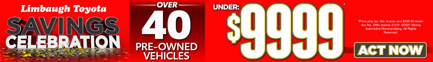 Over 40 Pre-owned Cars under $9999 ACT NOW