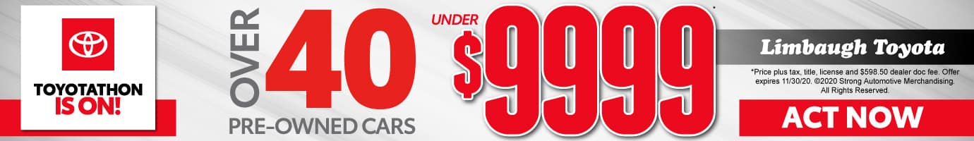 Over 40 Pre-Owned Cars under $9999 - Act Now