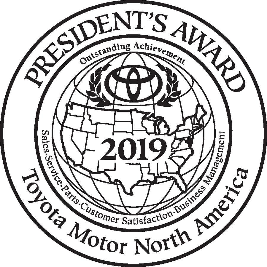 Toyota Motor North America 2019 President's Award Winner