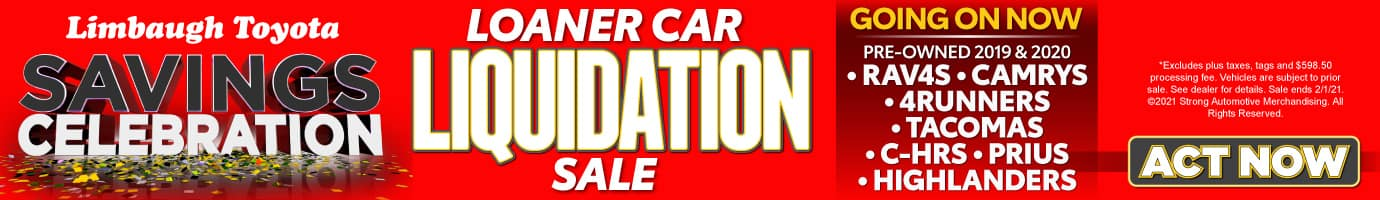 Loaner Car Liquidation Sale GOING ON NOW - ACT NOW