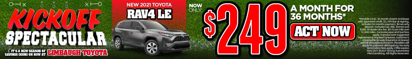 NEW 2021 TOYOTA RAV4 LE NOW ONLY $249/MO* ACT NOW