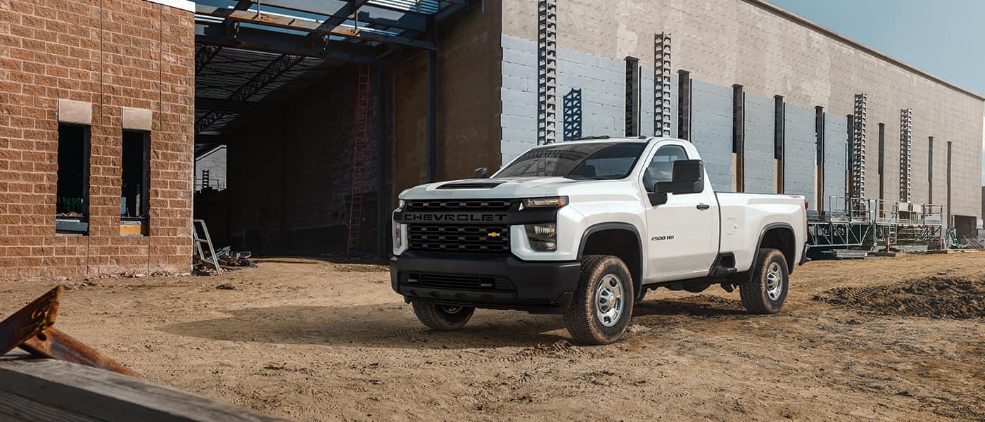 Chevy truck white