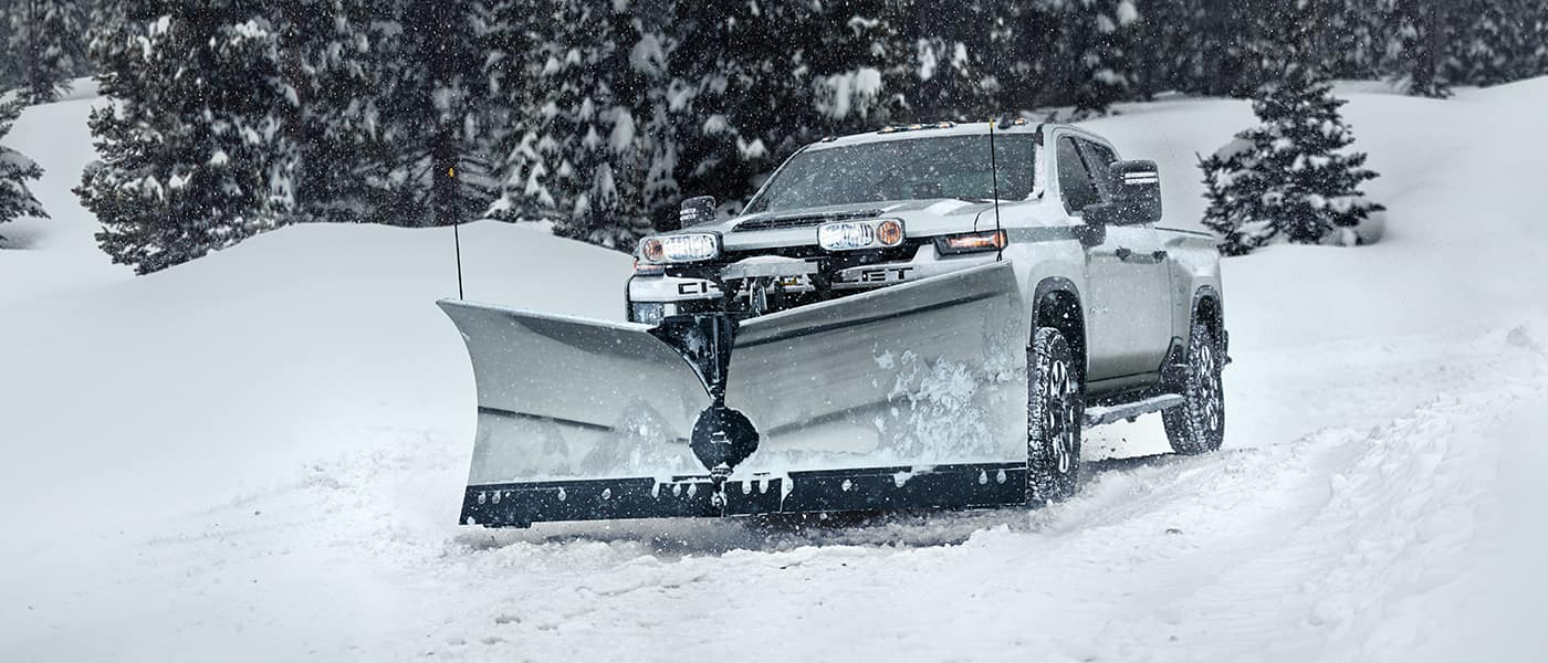 chevy truck with front shovel attachment
