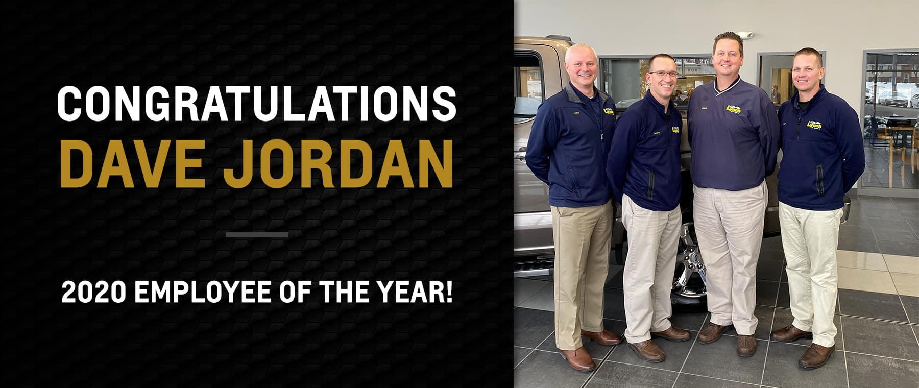 Congratulations Dave Jordan