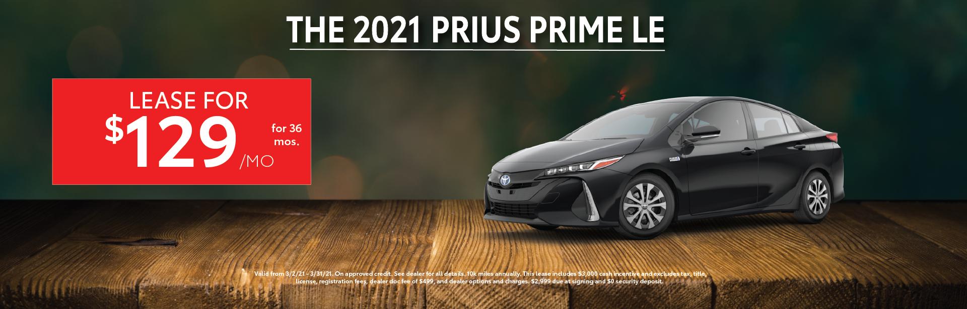 Mar. 2021 – Prius Prime Lease – Lynch Homepage