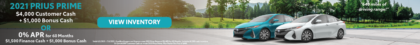 June 2021 – Prius Prime Finance Offers – Lynch VLP